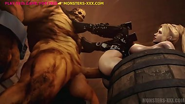 RACHEL FUCKED BY MONSTER'S HUGE COCK #1