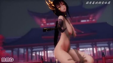 3D MMD Bouncing Titties and Dripping Wet Pussy in Tokio Funka