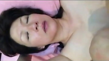 50yo Asian MILF takes Facial
