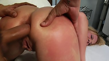 Big Tit Blonbde Aria Austin Takes Cock Deep in Ass