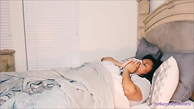 BBW Sick In Bed Blowing Nose HD trailer
