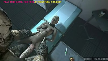 CASSIE CAGE FUCKED BY 2 3D MONSTERS (2)