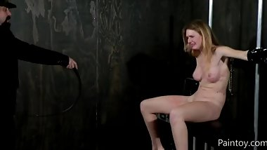 pretty slut Ashley lane bondage and harsh whipping make her crying