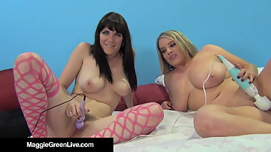4Some Fucking With Maggie Green & Horny Samantha Bentley!