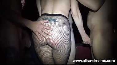 Hotwife gets Fucked by many guys in a club