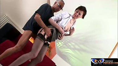 British milf fucked by older guy [Vintagepornbay.com]