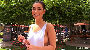 FTV Olivia Public Nudity & Flashing Big Tits Fun