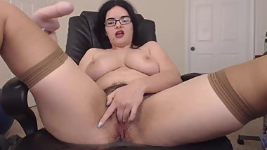 Squirting hairy domme Ann who loves bad jokes and yoga