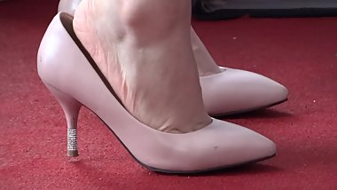 candid chinese heel