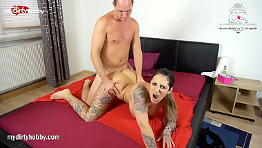 My Dirty Hobby - Busty brunette rides hard cock