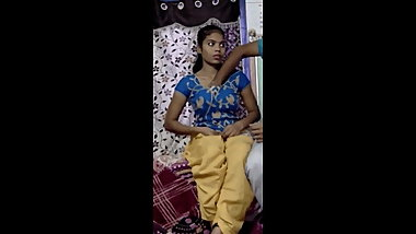 Cute Indian Teen Making Seductive Love With Her Boyfriend -
