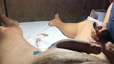 Brazilian Waxing of a Hung Male  Part 3 Shaft and Balls.MOV