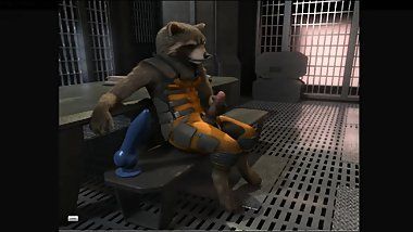 ROCKET RACCOON FAPPING BY H0RS3 FURRY YIFF ANIMATION