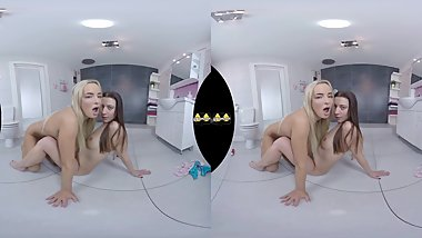 Virtualpee - VR Piss drinking and dildo play on the bathroom floor